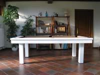 Billard De Salon Billard Table Loft Chene Massif Naturel Tapis Bordeau