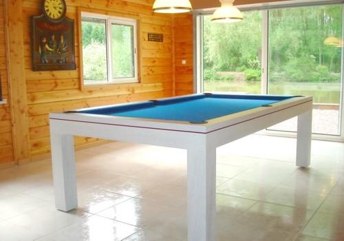 billard lafuge billard design eos en chene blanchi tapis bleu livre sur lille. Black Bedroom Furniture Sets. Home Design Ideas