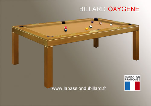 billard contemporain billard transformable en table design oxygene laque dore tapis gold. Black Bedroom Furniture Sets. Home Design Ideas