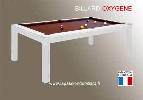 Billard nouveaut billard oxygene chassis en acier laque - Billard transformable en table ...