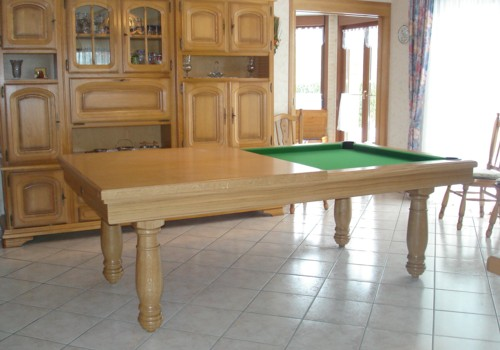 billard table billard americain manoir 2m30 en chene massif. Black Bedroom Furniture Sets. Home Design Ideas