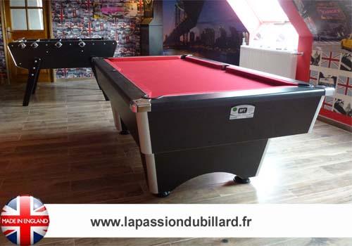billard en promotion billard pool anglais domestic noir tapis rouge. Black Bedroom Furniture Sets. Home Design Ideas