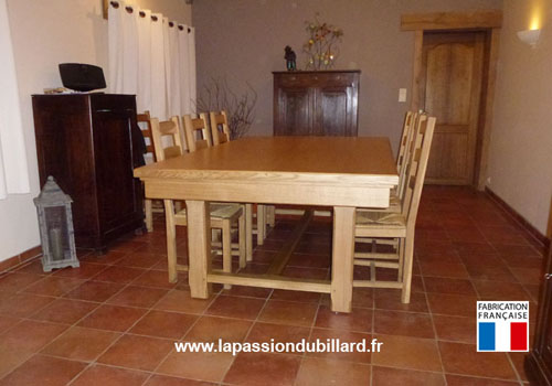 Billard table billard table rustique en chene naturel - Chaise moderne avec table rustique ...