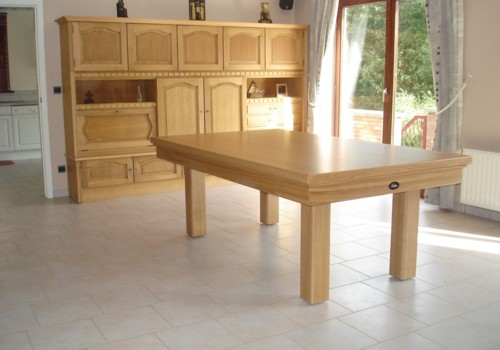 Billard lafuge billard transformable en table de salle a manger en chene massif version loft 2m10 - Table de billard transformable ...