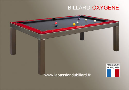 Billard contemporain, Billard table Oxygene version inox ...