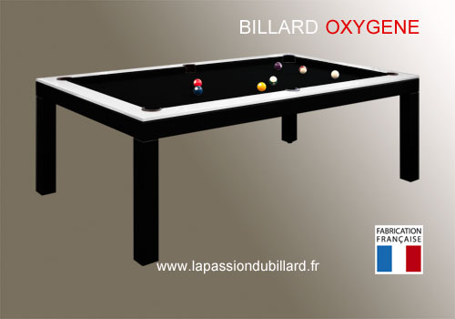 Billard table billard contemporain table bi ton oxygene for Table de salle a manger et billard