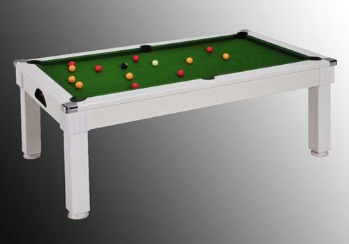 billard table billard table pas cher windsor blanc tapis vert