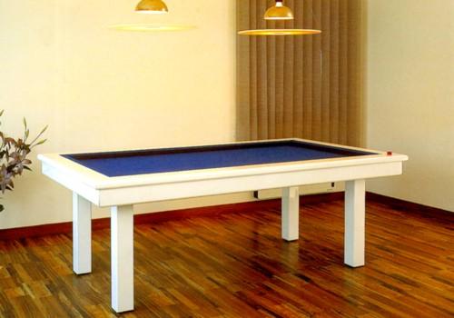 Billard table billard laque blanc loft de style moderne - Billard moderne ...