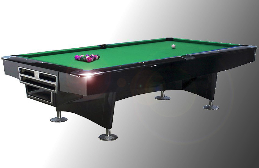 table de billard am ricain de comp tition challenger noir laqu tapis vert. Black Bedroom Furniture Sets. Home Design Ideas