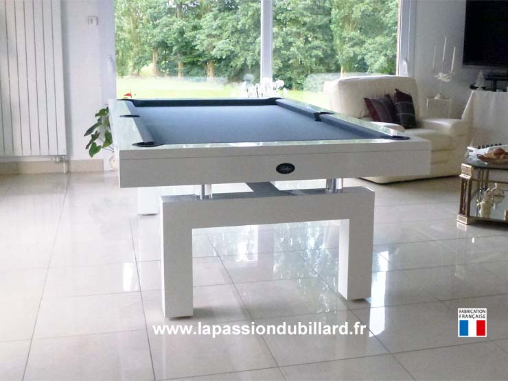 Billard table, Billard contemporain Arcade laque blanc tapis ...