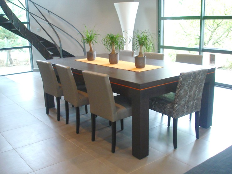 Table salle manger weng for Table salle a manger wenge