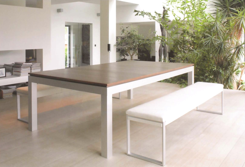 Billard Fusion Table Aramith aluminium cerisier banc blanc -> Banc De Table Blanc