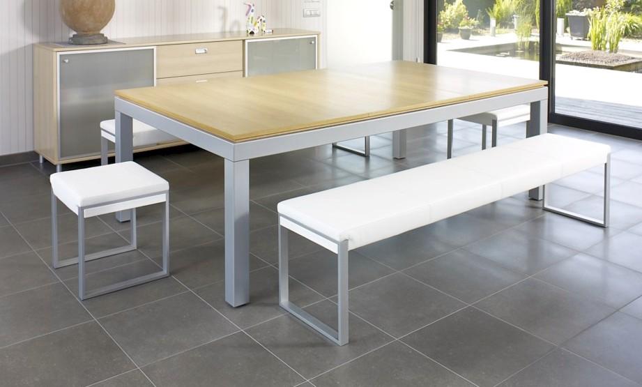 Billard aramith fusion chene claire transformable en table - Billard transformable en table ...