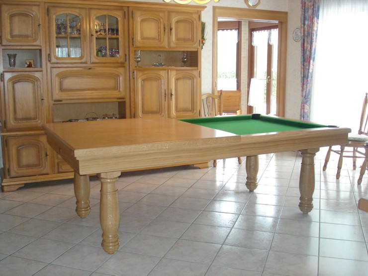 photo billard table billard americain manoir 2m30 en. Black Bedroom Furniture Sets. Home Design Ideas