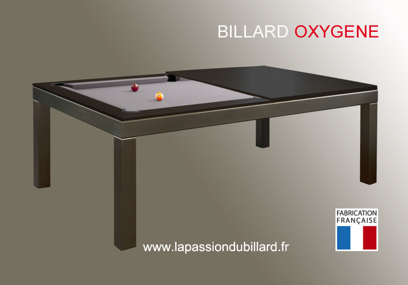 photo billard table billard table oxygene la fusion du bois et de l inox plateau teinte wenge. Black Bedroom Furniture Sets. Home Design Ideas