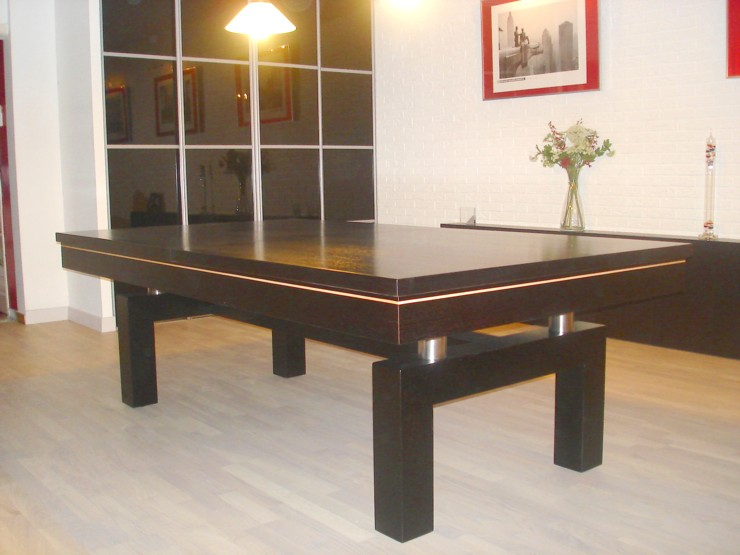 photo billard table billard table contemporain arcade americain francais chene teinte ebene. Black Bedroom Furniture Sets. Home Design Ideas