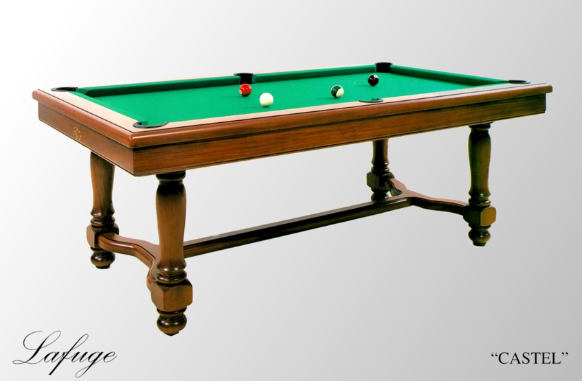 Photo billard lafuge billard americain francais castel for Table de salle a manger billard