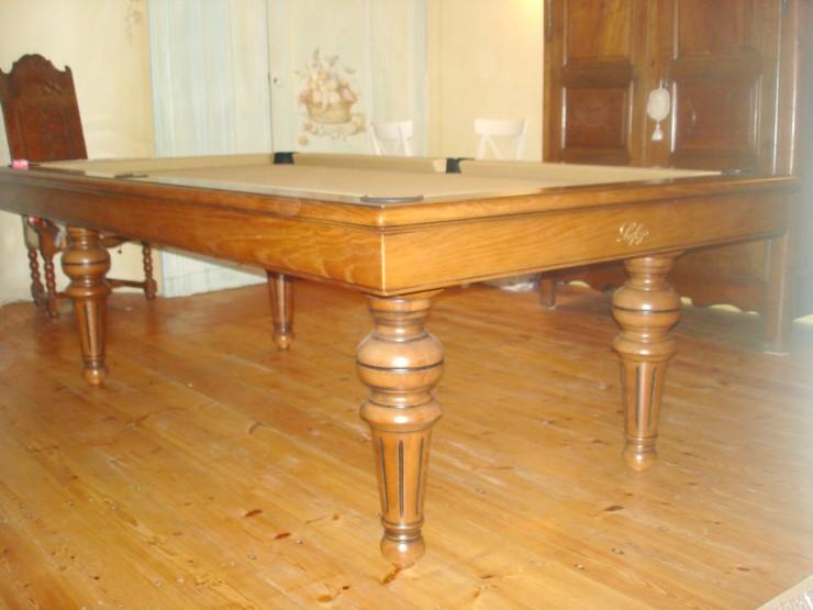 Photo billard table billard louis philippe chene massif - Billard transformable en table ...