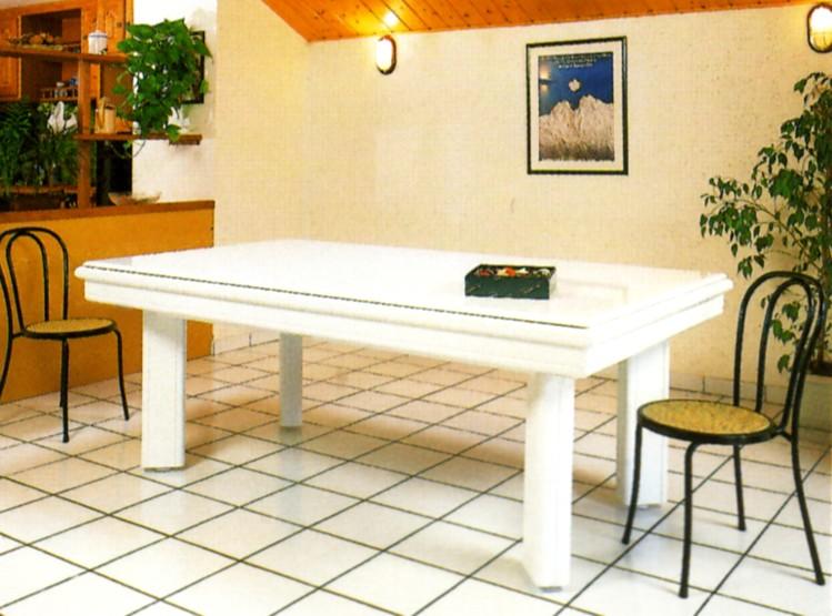 Photo billard table billard laque blanc elegance - Fabricant billard americain ...
