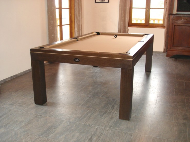 Photo billard francais table de billard design eos for Table billard convertible belgique